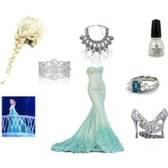 """Elsa (frozen)"" by me or this dress but with a train I want over the top of course :)"