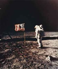 Buzz Aldrin standing beside the U.S. flag, Apollo 11, July 1969   $6,000-$10,000 @ Christies!