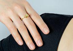 Copernica Ring: 18 Ct Gold Vermeil Sphere Ring