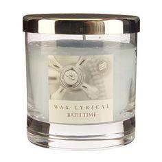 Bath Time Medium Candle Jar by Wax Lyrical Candle Box, Tin Candles, Scented Candles, Candle Jars, Wax Lyrical, Bath Time, Soft Furnishings, Own Home, Lyrics