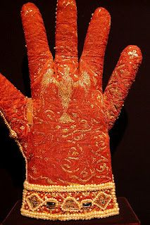 The palm of the coronation glove of Frederick II, 1220