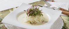 Espaguete de pupunha ao molho de queijo - Lucilia Diniz