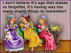 Aging and silly things we remember.