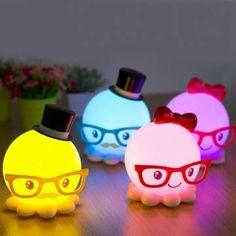 LED USB Cute Octopus Night Light Energy-saving Baby Bedroom Lamp Gift