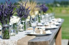 So fresh and french/ lavender and burlap