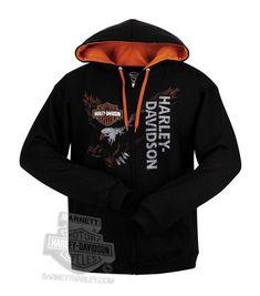 Harley-Davidson Mens Eagle Across Full Zip Black Long Sleeve Hoodie  http://bikeraa.com/harley-davidson-mens-eagle-across-full-zip-black-long-sleeve-hoodie/