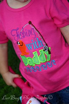 Girls Fishing with Daddy onsie shirt by BIndulgedBoutique on Etsy, $25.00