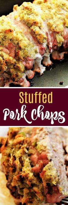Delicious Stuffed Pork Chops, My Recipe Treasures Blog