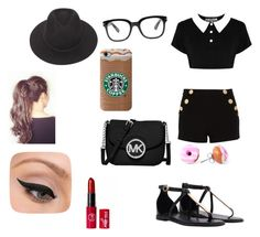 """""""Day of fun"""" by miat830 on Polyvore featuring Boutique Moschino, MICHAEL Michael Kors, Forever 21, Brixton and LORAC"""