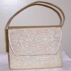 Gold Evening Bag Vintage St George Creation purse by VintageJoyON