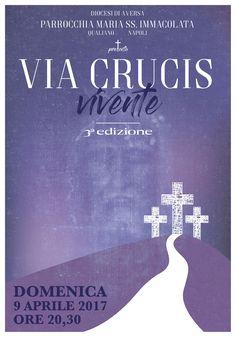 Questo è un manifesto creato per la Via Crucis della Cittadina di Qualiano - Napoli, organizzata dall Parrocchia Maria SS. Immacolata.  https://www.behance.net/gallery/52631931/Via-Crucis-for-City-of-Qualiano