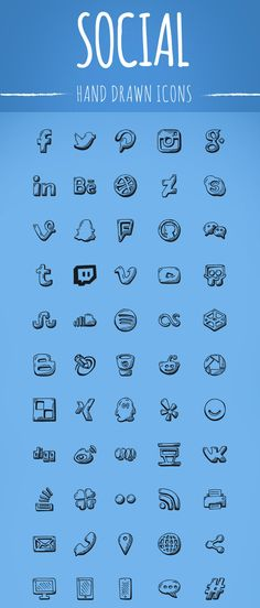 free-hand-drawn-social-icons