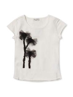 Mesh Detailed Tee Shirt by Eliane et Lena at Gilt
