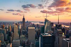 New York City Feelings - Lovely sunset in New York City