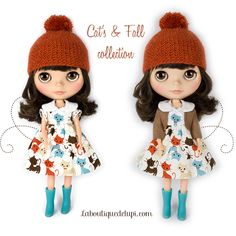 http://elblogdelupi.com/laboutiquedelupi/la-boutique-de-lupi-cats-fall-set #blythe #dolls