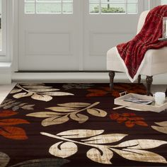Lavish Home Area Rug, Red