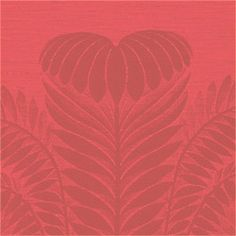 PALM DAMASK, Red, T9370, Collection Damask Resource from Thibaut