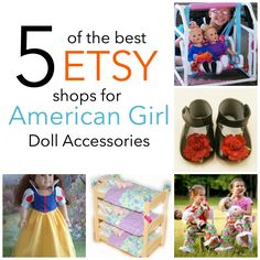 5 of the Best Etsy Shops for American Girl Doll Accessories - great prices, fun products, and perfect for Christmas!!