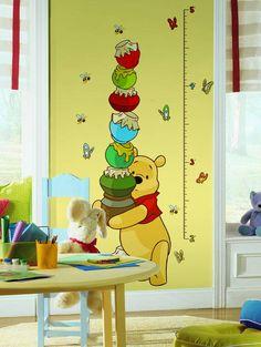 Disney Winnie de Pooh groeimeter sticker te koop bij www.versierendoejezo.nl