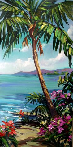 """Cool Blue"", by Steve Barton Size: 12"" x 24"" Medium: Giclee on Canvas - Gallery Wrap Edition: 295"
