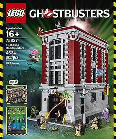 LEGO Firehouse Headquarters Building Kit, Ghostbusters 75827 (Close box, NEW)