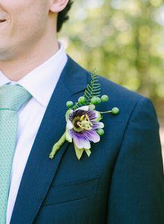 purple + tiny fern boutonniere   Jodi Miller