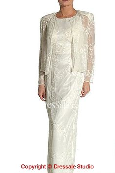 Sheath Destination Wedding Wear for Older Brides
