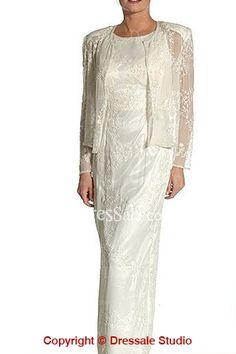 Sheath Destination Wedding Wear for Older Brides