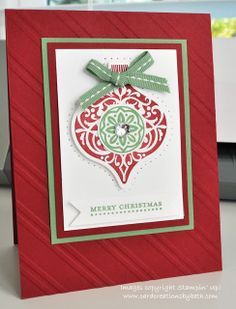 Traditional Ornament Card Card Creations by Beth