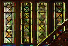 Edgar Miller.  Aldinger windows
