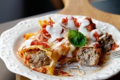 The Kitchen Whisperer Classic Meatball Stuffed Manicotti Seafood Manicotti Recipe, Pasta Recipes, Cooking Recipes, Easy Delicious Recipes, Tasty, Roasted Cabbage, Good Food, Yummy Food, Pasta Dinners
