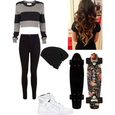 A fashion look from November 2014 featuring A.L.C. sweaters, Miss Selfridge jeans and Supra sneakers. Browse and shop related looks.