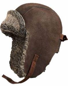 Ultimate Shearling Sheepskin Pilot Hat - Brown