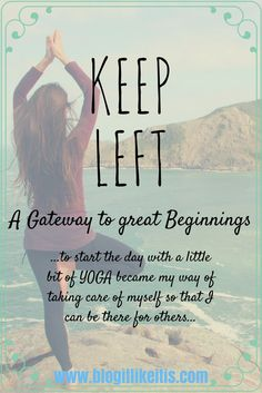 """Keep left, keep left"" is what I silently chant in my head over and over like a mantra as I move downstairs in a ninja style manner.  The mission is the same every morning: wake up early so that I …"