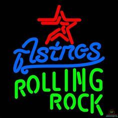 Rolling Rock Houston Astros Neon Sign MLB Teams Neon Light