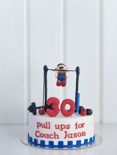Posts about Products written by thecakestudioph Baby Boy Birthday Cake, Birthday Cakes For Teens, Birthday Ideas, Cupcake Icing, Cupcake Cookies, Bolo Crossfit, Fitness Cake, Gym Cake, Cake Design For Men