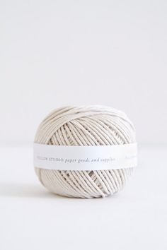 Natural white cotton ball of string or twine by followstudio, $4.50
