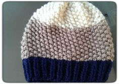 Hand Knit Waffle Beanie with Ribbed Edge by LilRedKnittingHood, $18.00