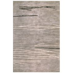 Shop Bashian Charlton 7-ft 9-in x 9-ft 9-in Rectangular Gray Transitional Wool Area Rug at Lowes.com
