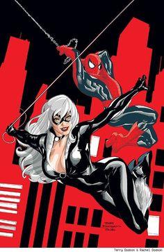 Spiderman Sex mit schwarzer Katze