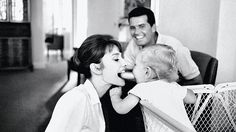 Family Hour. Photo by Bob Willoughby. #AudreyHepburn