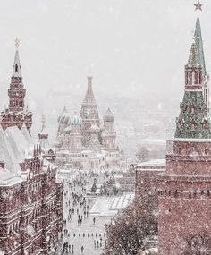 Image discovered by frannieredman. Find images and videos about travel, snow and russia on We Heart It - the app to get lost in what you love. Unique Hotels, Beautiful Hotels, Luxury Hotels, Moscow Winter, Russia Winter, St Basil's, Winter Magic, Christmas Aesthetic, Winter Time