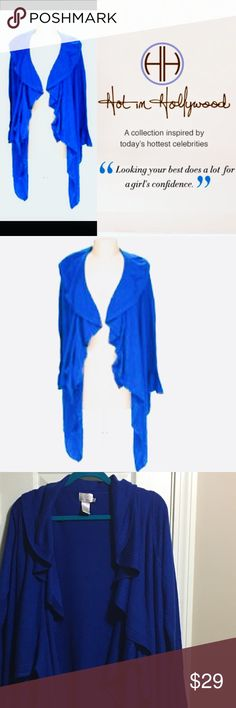HOT in HOLLYWOOD ROYAL BLUE CARDIGAN Stunning royal blue color. Perfect for fall! Slightly oversized. NWOT Never worn. Comes from a smoke free home. Bundle & save! Hot In Hollywood Sweaters Cardigans