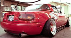 NA Miata with SSR MKII 15×9 ET -5