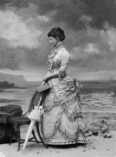 Victorian photograph. So much amazing detail. You can't really find every-day clothes like that any more.