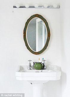 The bathroom fittings are from bathstore.com. Topps Tiles sells a range of mini-mosaics (toppstiles.co.uk)