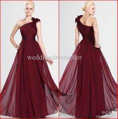 Wholesale Bridesmaid Dress - Buy New Arrival!!!2013 Top Selling Fashion Red One Shoulder A-line Backless Chiffon Bridesmaid Dresses Prom Dresses Evening Dresse KE959, $109.0 | DHgate
