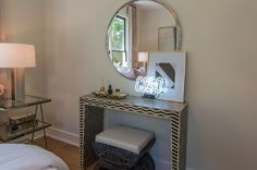 Entryway Tables, Vanity, Mirror, Furniture, Home Decor, Siblings, Dressing Tables, Powder Room, Vanity Set