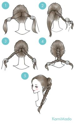 (twisted updo pony tails) – Cynthia Auzou – - New Site Cute Simple Hairstyles, Pretty Hairstyles, Funky Hairstyles, Formal Hairstyles, Ponytail Hairstyles, Updos, Men's Hairstyle, Twist Ponytail, Twisted Updo