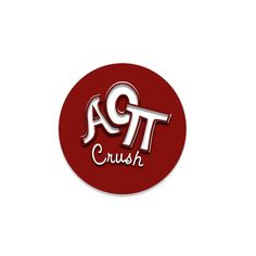 Alpha Omicron Pi Button . For The Guys . Crush . 2.25""